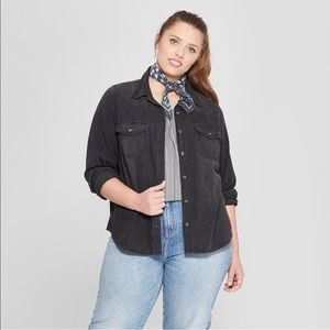 Women's black faded Labette shirt